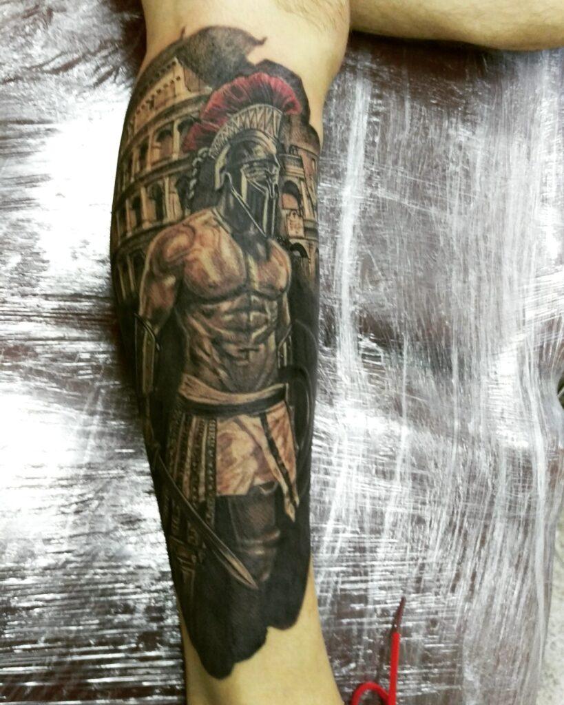 татуировка спартанец от мастера Александра - ТатуКлубБай г. Минск.