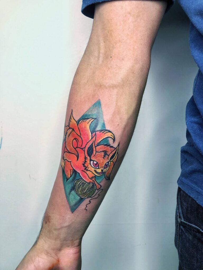 татуировка на мужском теле от мастера Паши - ТатуКлубБай г. Минск.