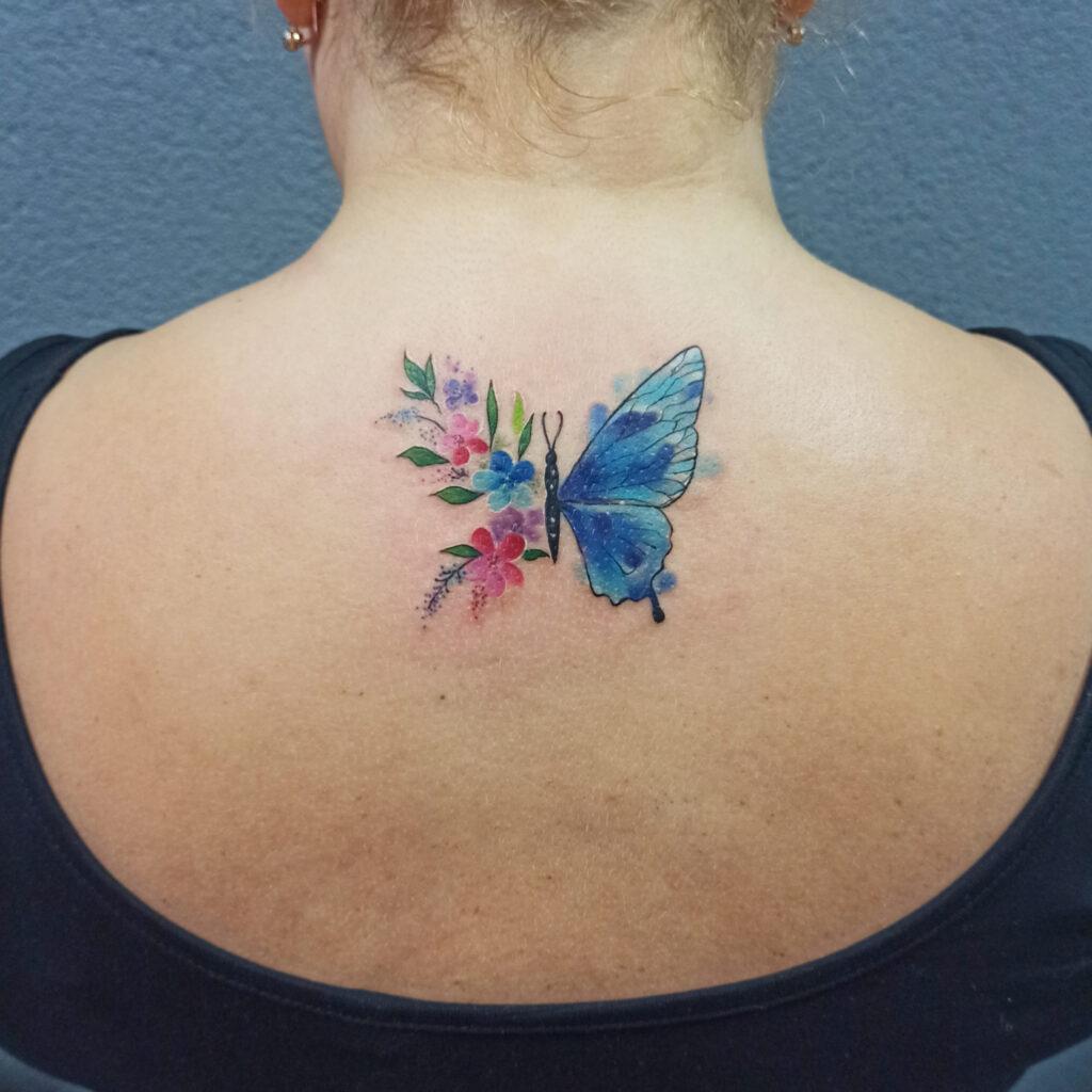 татуировка бабочка от мастера Юли - ТатуКлубБай г. Минск.