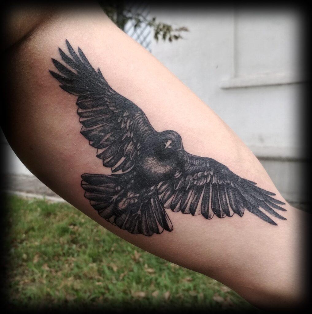 татуировка орёл от мастера Юли - ТатуКлубБай г. Минск.