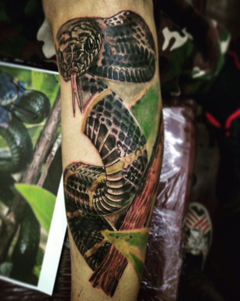 тату изображение змеи от мастера Александра - ТатуКлубБай г. Минск.